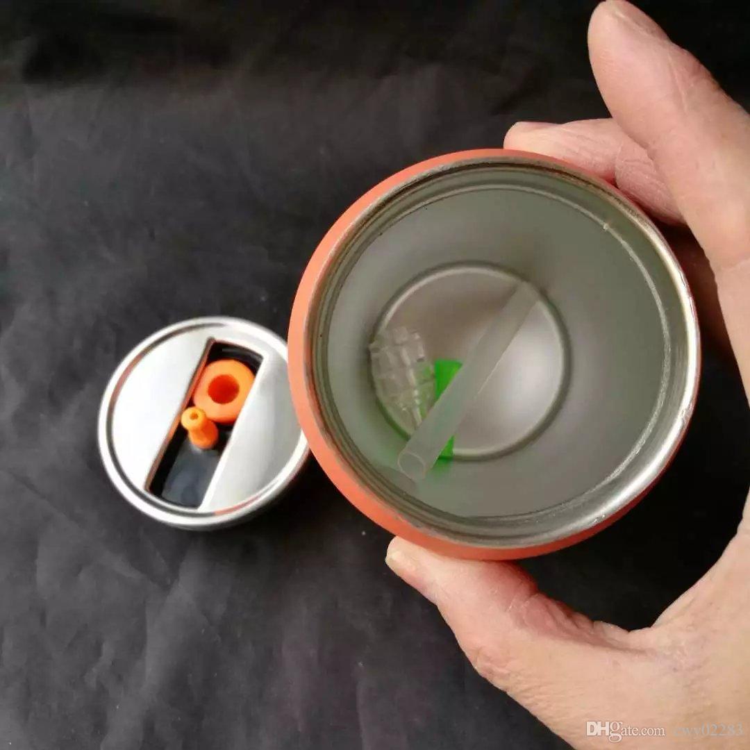 만화 스테인레스 스틸 호스, 도매 유리 봉 액세서리, 유리 물 파이프 흡연, 무료 배송