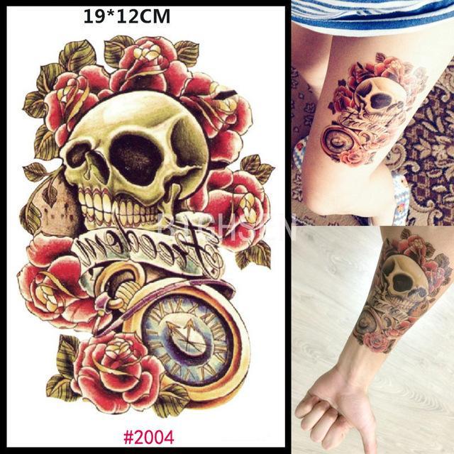 Wholesale New Punk Skull Design Temporary Sticker Tattoos Skull
