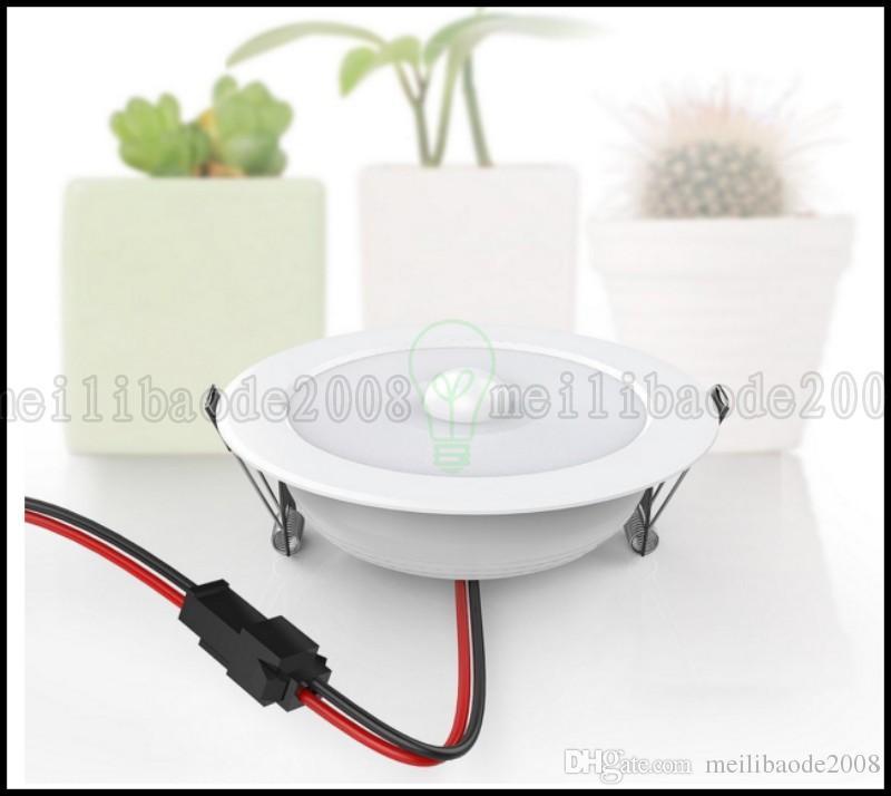 5W E27 PIR 모션 센서 SMD 10 * SMD 5730 LED 천장 단계 빛 Downlight 벽 경로 램프 LLWA216