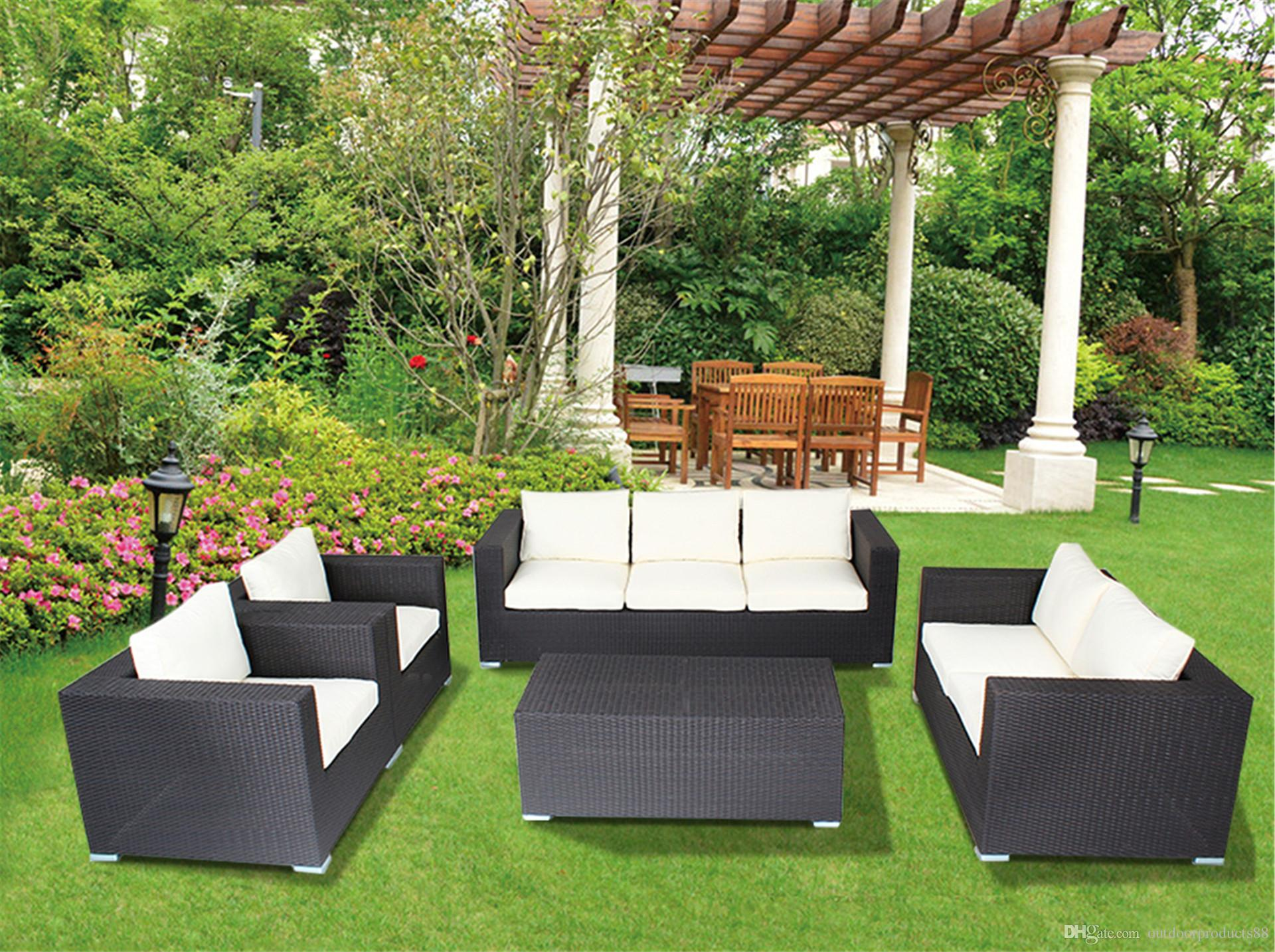 FashionGarden Outdoor Furniture Rattan Sofa Set Outdoor Leisure