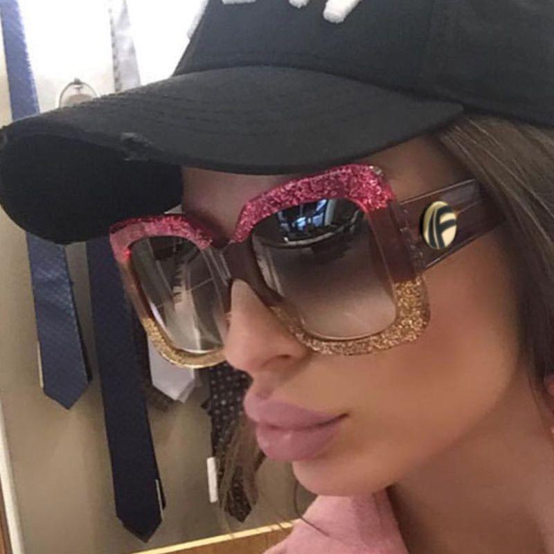 fde298e05bb ALOZ MICC Brand Design Square Sunglasses Women Luxury Crystal Frame ...