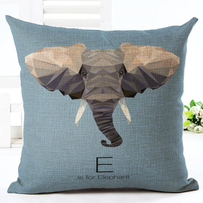 45cm Fanshion Cotton Linen Fabric Throw Pillowcase Letters Animals Hot Sale 18 Inch New Home Coffee House Sofa Back Decor Cushion Cover