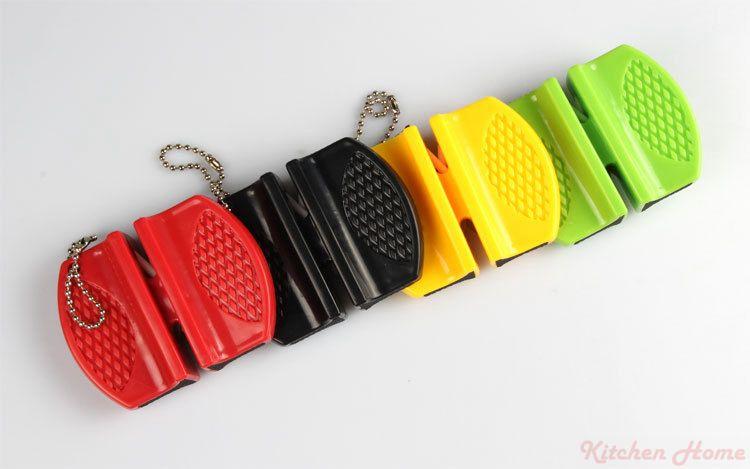Mini Taşınabilir Seramik Karbür Bıçak Bileyici Mutfak Bıçak 2 Aşamaları Cep Bıçaklar Bileme Aracı Halat Mutfak Ev Kalemtıraş
