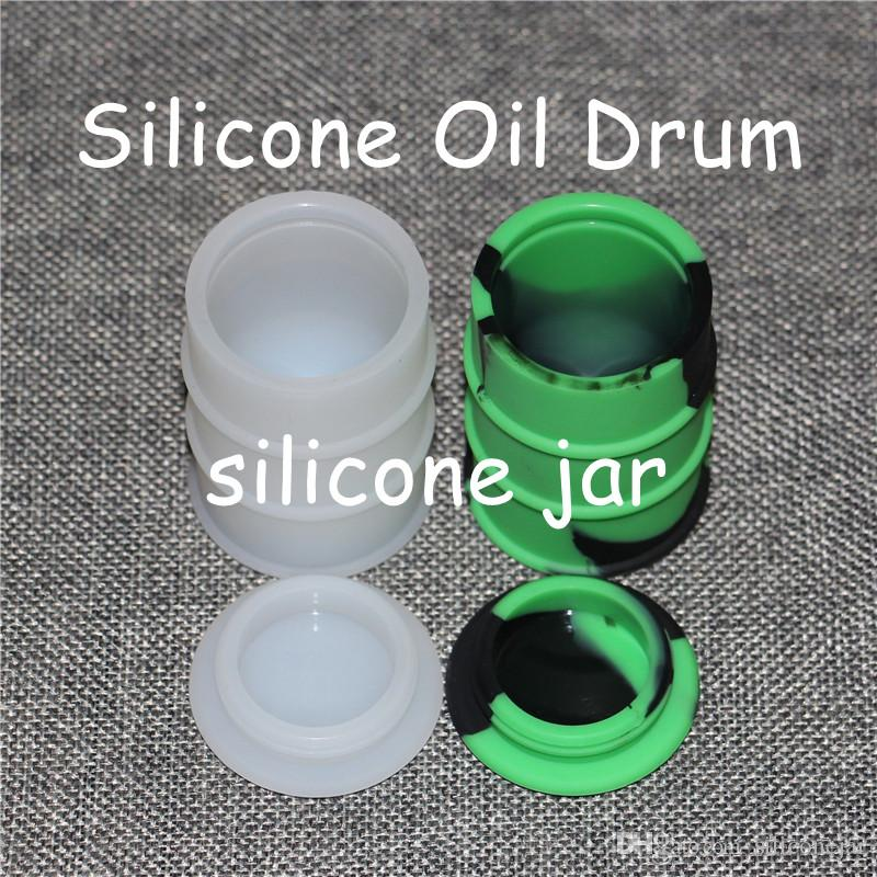 26ml Konzentrat Dabber Jar Silikonwachs Verdampfer dab Ölfass Behälter Gläser Große Non Stick Ölfass Container geben Schiff durch DHL