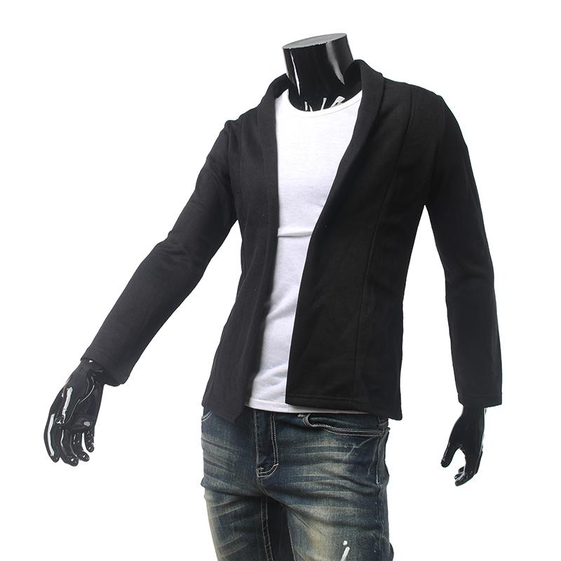 ing Newly Concise Cardigan For Men Solid Color Charming Men's Sweaters Slim fit Turn-down Collar Personalized Design