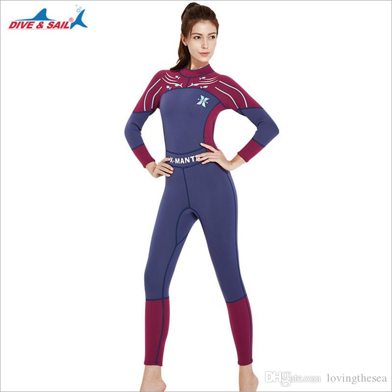 d45bad7829 New Arrival Women Wetsuit Swimming Suit 3mm Print Thermal Winter ...