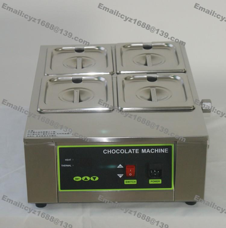 Kommerzielle Nutzung 4 Lattice 110v 220v Elektro 8kg Digital Chocolate Fountain Schokolade Boiler Melter Warmer Temperierer Maschine