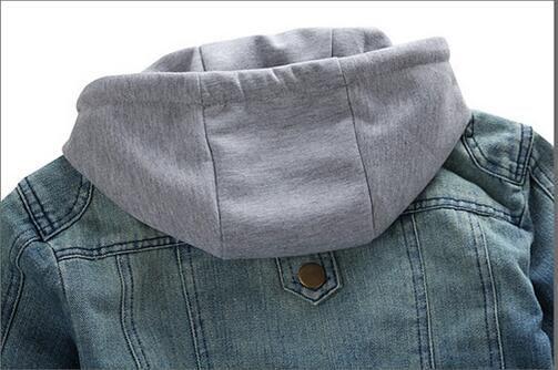 Mode Hommes Denim Vestes À Manches Longues Avec Chapeau Amové Lavé Vintage Man Jean Manteaux À Capuche Hommes Outwears