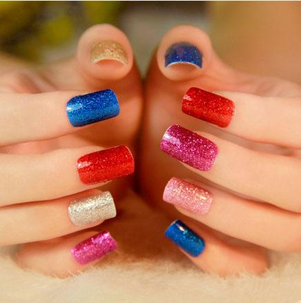 15x/ Bling Bling Nail Sticker Été Élégant nail art décorations DIY Nail Beauté doigt Nail Stickers Manicure autocollant de vernis à ongles