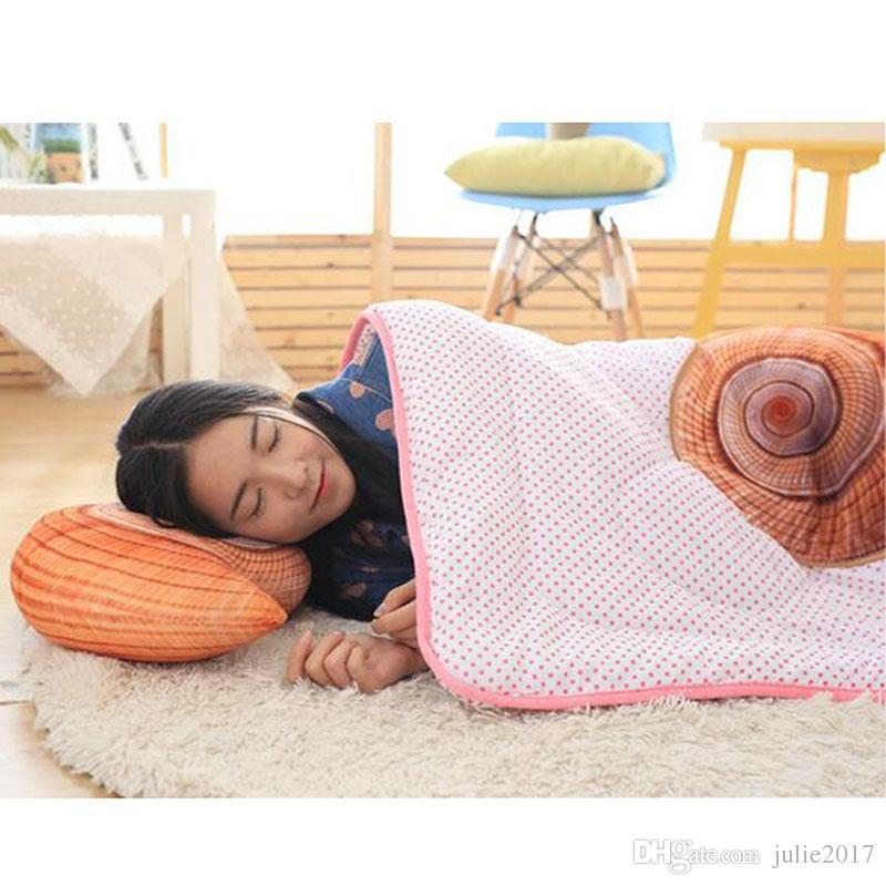 Creative Marine Life Plush Pillows Conch & Shell & Starfish Staffed Plush Toys Cute Cushion Dolls for Kids Children