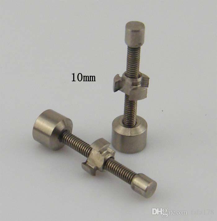 Em estoque 10 mm 14 mm 18 mm ajustável titânio prego Gr2 se encaixa 10 14 18 mm para cera, óleo intercambiáveis Ti prego vs tampas de titânio carb
