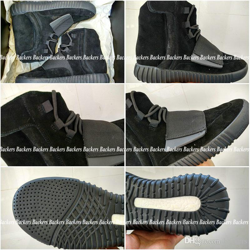 57a9315214 Acquista 2016 Nuovo Uomo Adidas Yeezy Boost 750 Blackout Esterna Della  Scarpa Da Tennis, Sconto Yeezy 750 Boost, Yeezys 750 Amplifica Skateboard  Shoes, ...