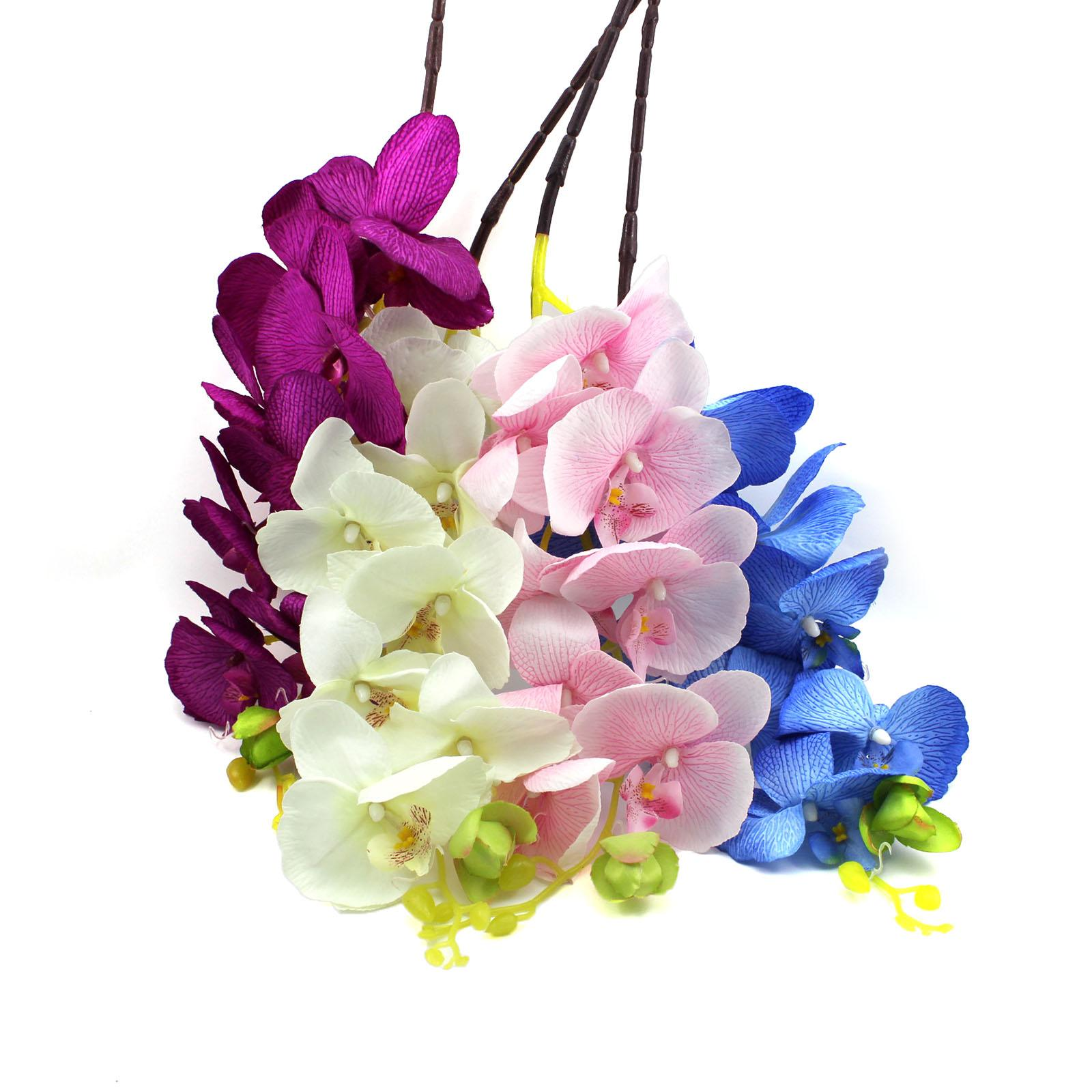 2018 Wholesale Artificial Butterfly Orchid Silk Flower Home Wedding