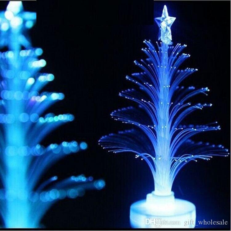 Decorazioni di Natale in fibra ottica acrilica Mini Multi lampeggiante Albero di Natale LED flash bar festa celebrazione puntelli regali