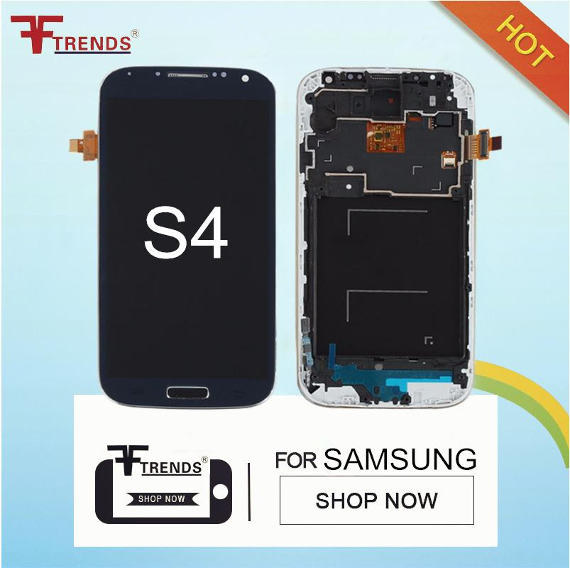 Original LCD Screen Compatible For Samsung Galaxy S4 IV GT-I9500 Display Digitizer with Touch Screen Assembly Frame