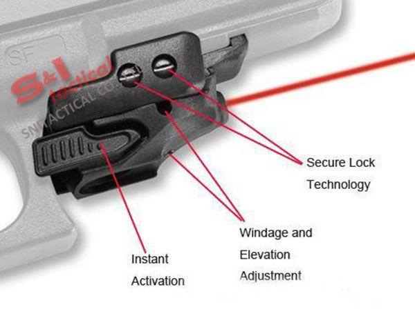 5mW Mini Pistole rot Laser Visier rot Laserpointer Halterung auf 20mm Schiene für Zielfernrohr schwarz / dunkle Erde