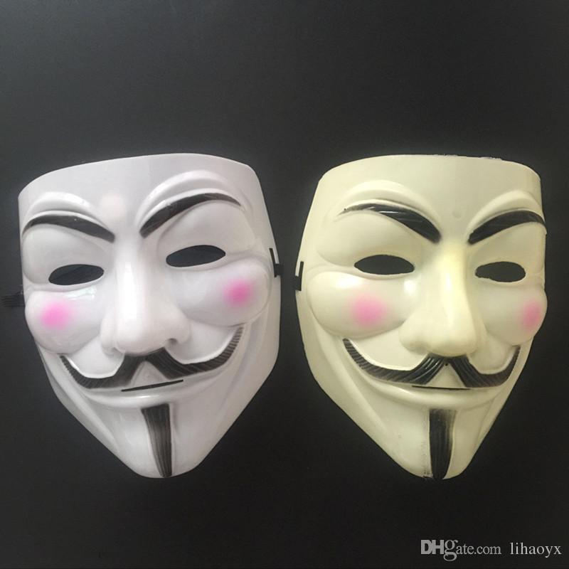 Heißer Verkauf Party Masken V für Vendetta Maske Anonym Guy Fawkes Fancy Dress Erwachsene Kostüm Zubehör Party Cosplay Masken TO146