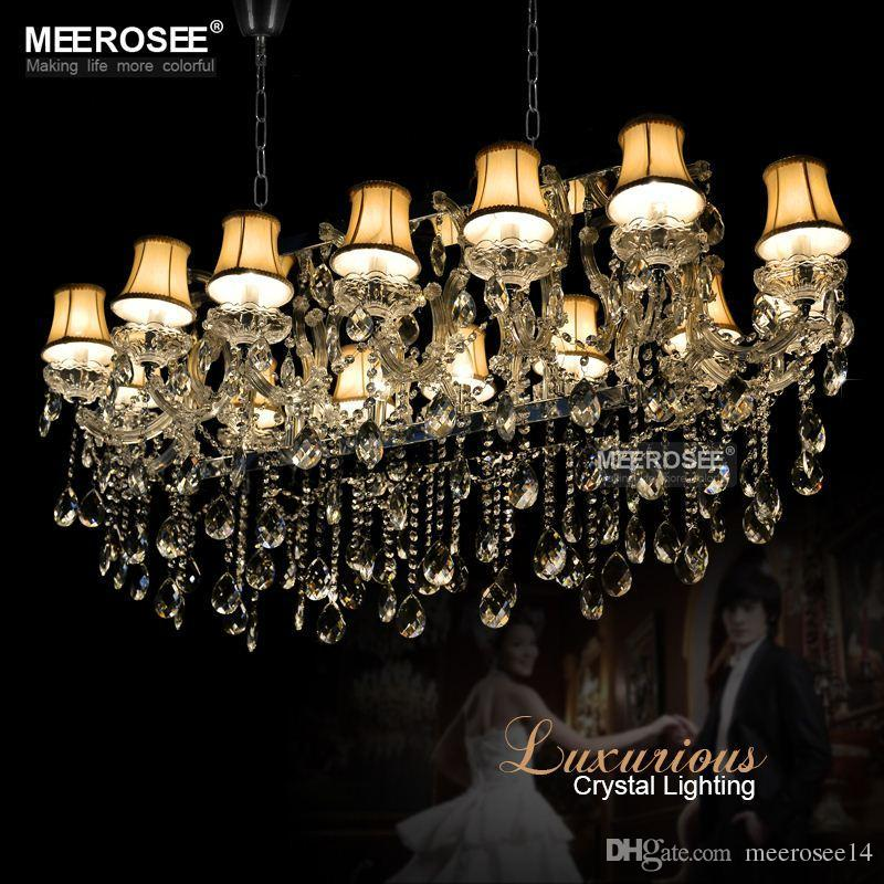 hotel maria theresa lights authentic cristal pendants rectangle crystal chandelier lamp foyer lusters for dining room 18 lights metal chandelier hanging - Kronleuchter Fur Foyer
