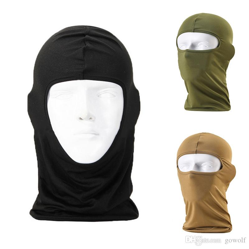 a9382034464 2019 Thermal Fleece Warm Winter Cycling Ski Neck Windproof Masks Hood  Paintball Hats Motorcycle Tactical Full Face Riding Mask From Gowolf