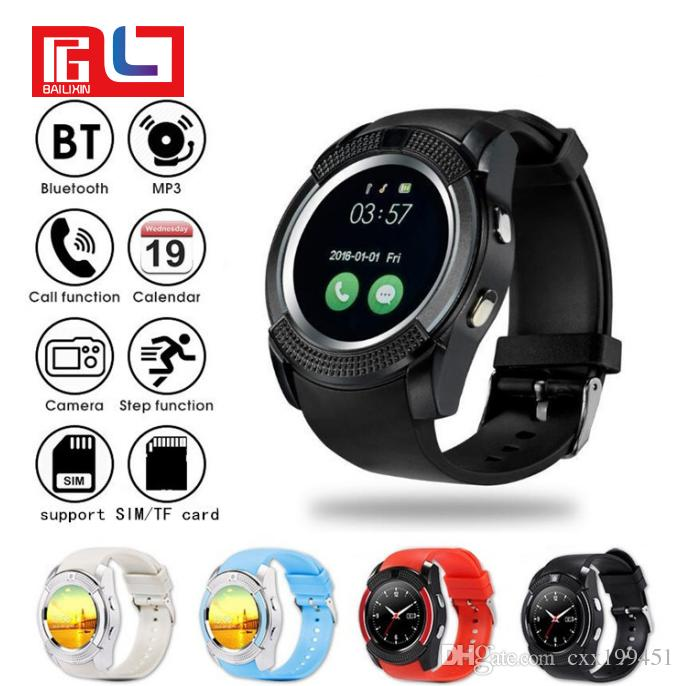 V8 Smart Watch Multifunction Bluetooth Watches 0 3M Camera MTK6261D  Smartwatch for Android Phone With Retail Package