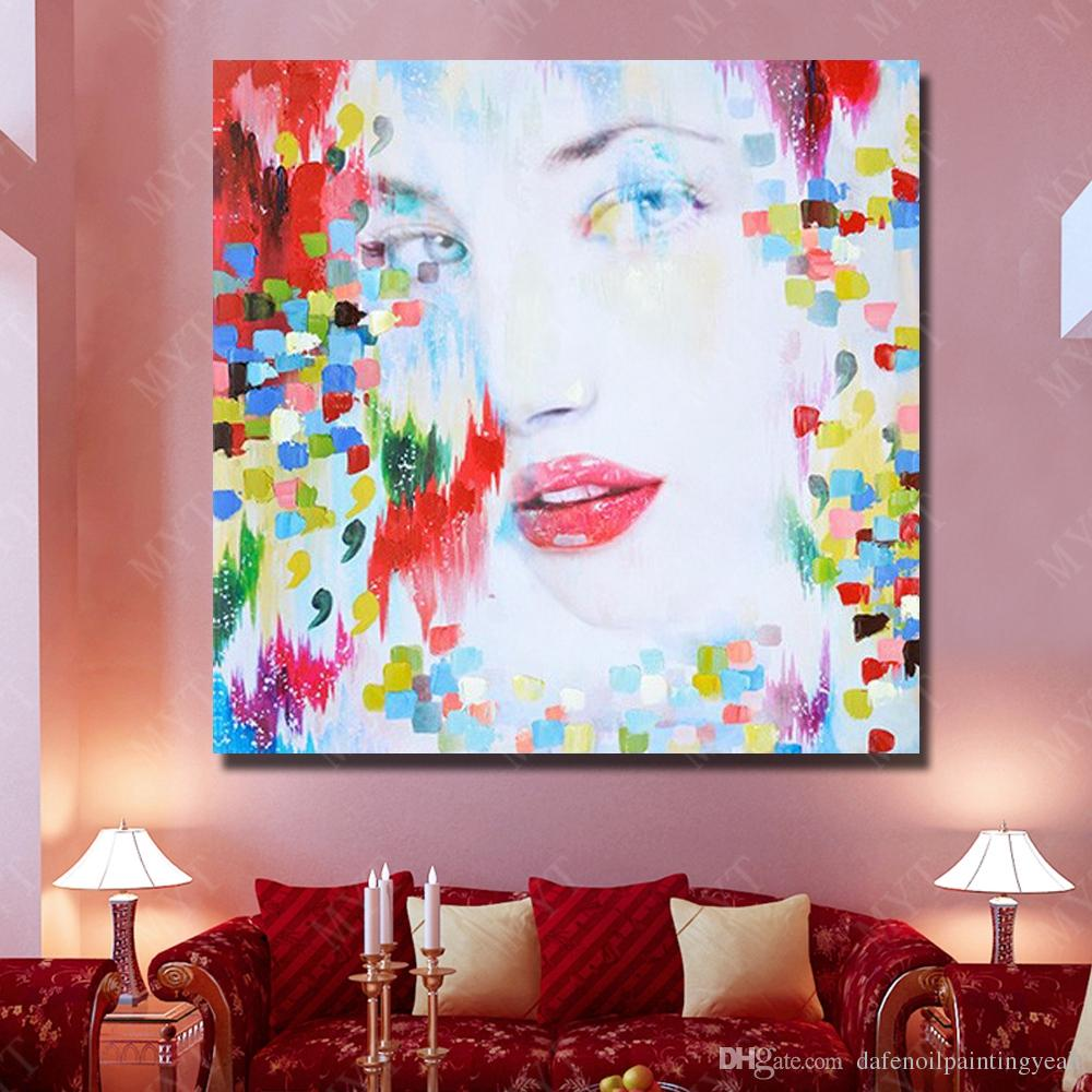 Modern Design Abstract Women Oil Painting Home Decor Wall Pictures Hand Painted Modern Pictures on Canvas Figure Painting No Framed