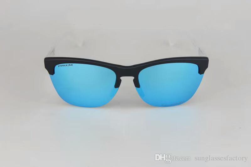 Nueva llegada Classic Frogskin medio marco gafas de sol Moda lente polarizada anteojos para el verano gafas al aire libre