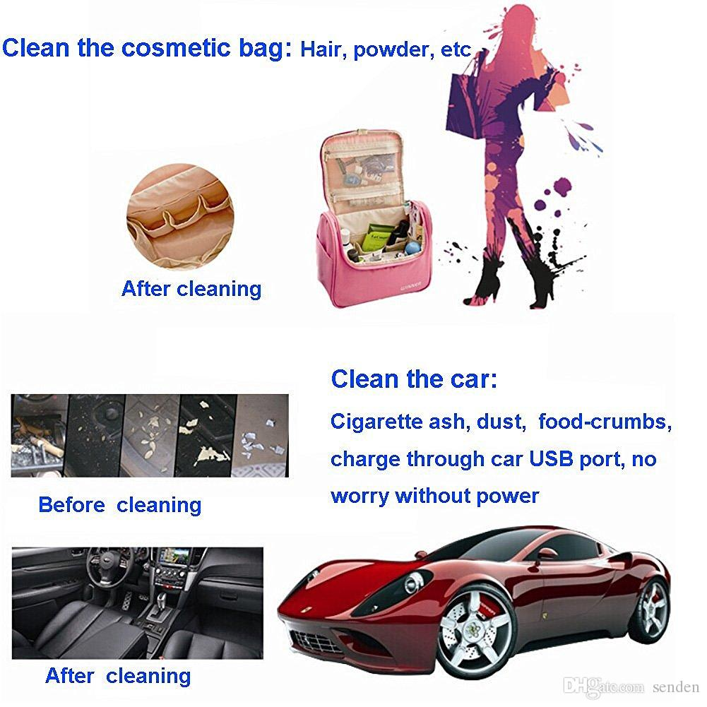 Handheld Mini USB Strong Aspirapolvere Dust Machine Vacuum Sweeper Brush Strumento di pulizia della polvere con spazzola tastiera PC Laptop Table Car Pet