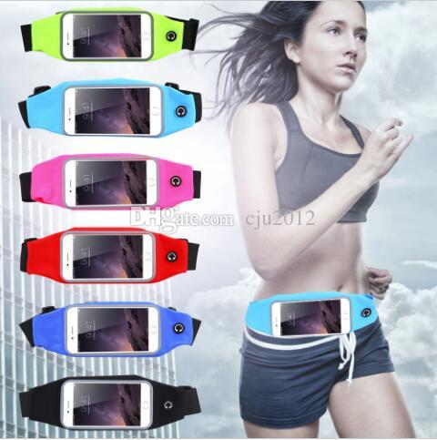 Gym Waist Bag Waterproof Sport Case For iPhone x 8 5s 6 6S 7 Plus Samsung Galaxy S5 S6 s7 edge s8 note8 Running Wallet Mobile Phone