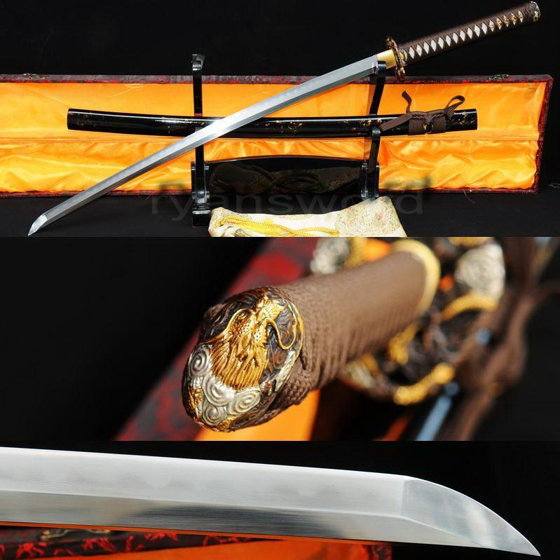 High Quality Combined Material Clay Tempered + Abrasive Japanese Samurai Katana Sword