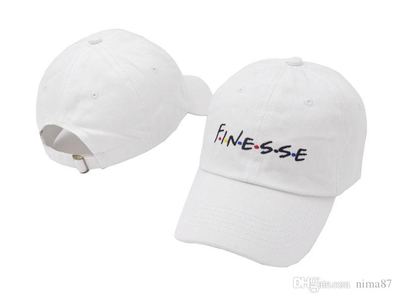 8bdaac8c070 White Pink Black Embroidery FINESSE Baseball Cap For Women Men ...