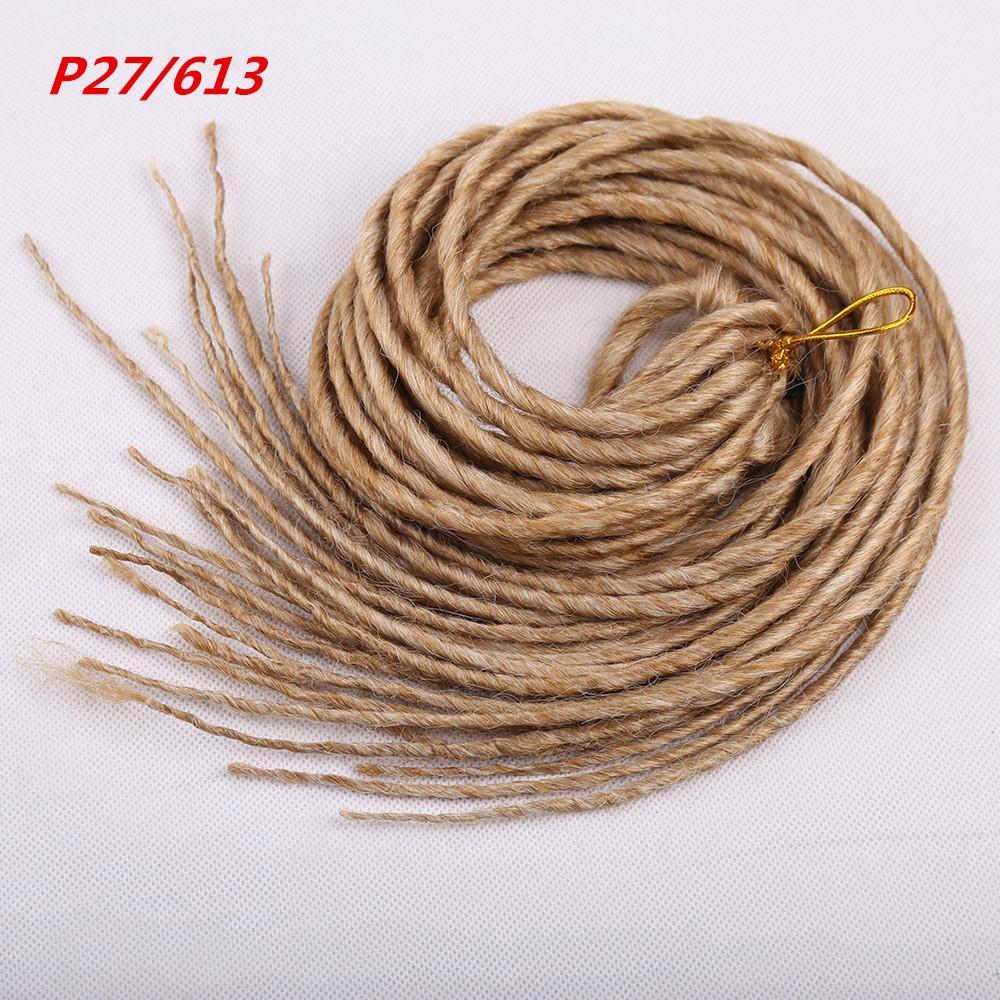 1 упак. 24strands дреды 20 дюймов синтетический плетение наращивание волос крючком косы волос белый розовый блондинка черный цвет