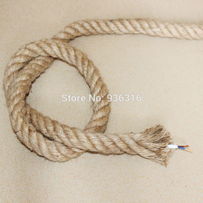 compre buque al por mayor libre 1 metro estrenar cuerda de camo cable elctrico de pared cuerda de camo y la lmpara colgante de luces 2 075 mm cobre - Cuerda De Caamo