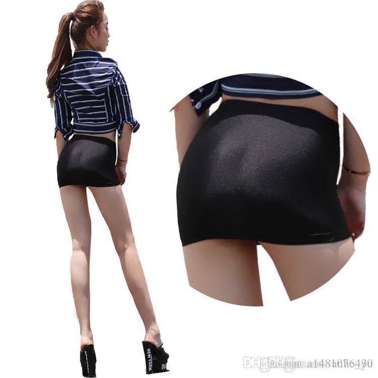 2017 Hot Sexy Oil Shiny Mini Skirt Tight Pencil Skirts Super Night ...