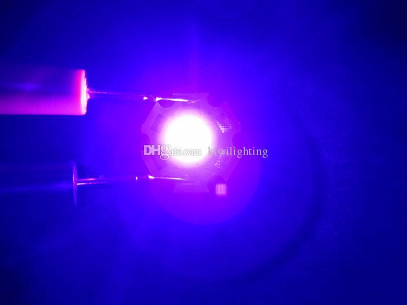 SemiLEDs 3W UV 395nm Led Chip Lumière 3.2-4.2V 350-1000MA Conseil 20 mm PCB