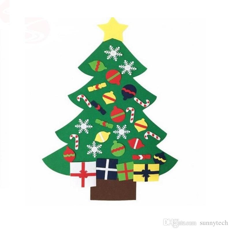 NEW Kids DIY Felt Christmas Tree Set with Ornaments Children Gift ...
