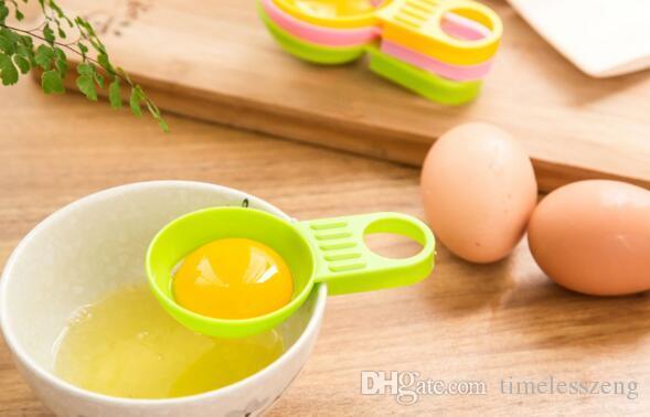 Kreatives kurzes footedl Eiweißseparator Eier, die notwendigen Eisteiler bearbeiten Küche, die Werkzeuge Eco freundliches Eigelb-Weiß-Trennzeichen kocht