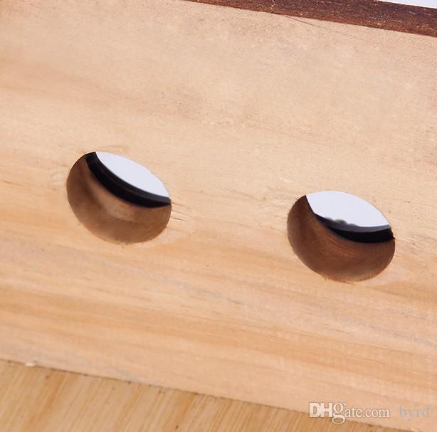 Kohlegrill tragbarer Grill für Haushalt bar Außengrillofen Grill mit Holzkasten 034