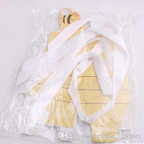 التي عسل النحل حلوى مربع مع الشريط استحمام الطفل عيد الميلاد عيد الميلاد حزب الشوكولاته مربع تصميم فريد من نوعه وجميلة