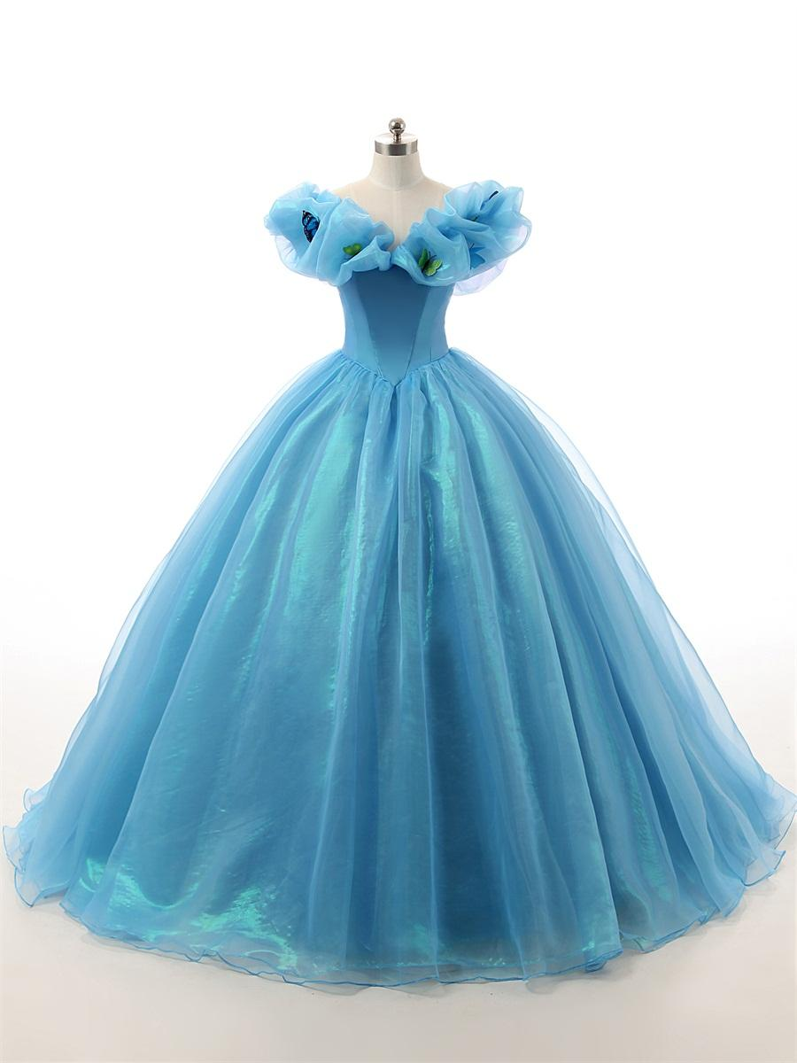 2016 Vintage Fairytale Masquerade Ball Gowns Prom Dresses Real Floor ...