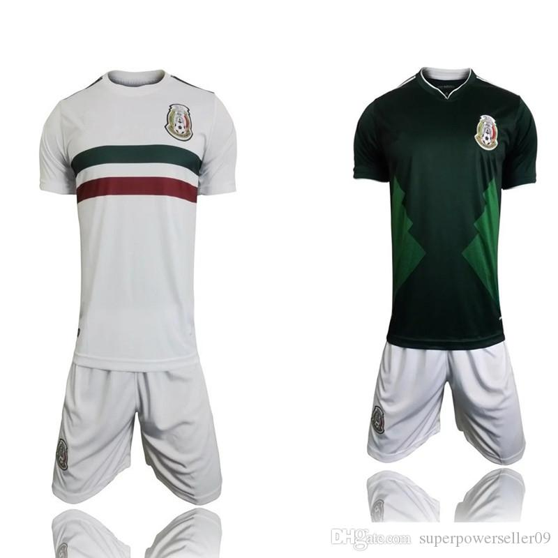 a314fe678 DHL Free Shipping, 2018 World Cup Jersey Mexico Home and Away Jersey Kit  Chicharito Thai