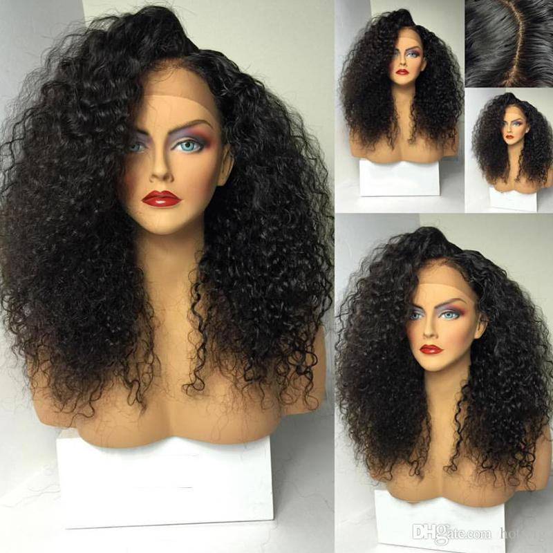 Brazilian Glueless Full Lace Wigs Deep Curly Full Lace Human Hair Wigs 150% Density Free Part Wavy Lace Front Wig
