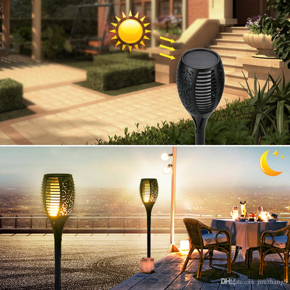 KYFL01-4,New LED Solar Flame Flickering Lamp Torch Light Flicker Solar Powered Waterproof Decorative Lamp For Garden Path Lawn Lamp