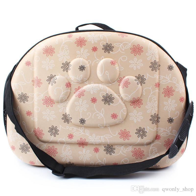 Alta calidad Pet Travel Carrier hombro pequeños perros y gatos bolsa plegable portátil transpirable exterior Carrier Pet Bag