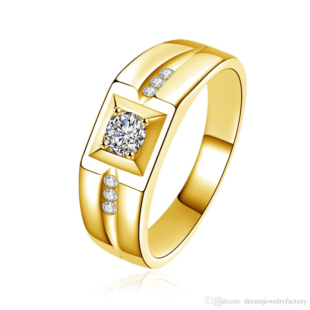 mens wedding nl classic yg comfort diamond band bands yellow men ring jewelry with gold dome fit in white for