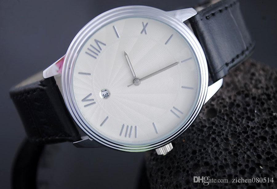 Gute Qualität beliebte Marke Rmani Herren Lederband Datum Kalender Quarz-Armbanduhr 3569-2