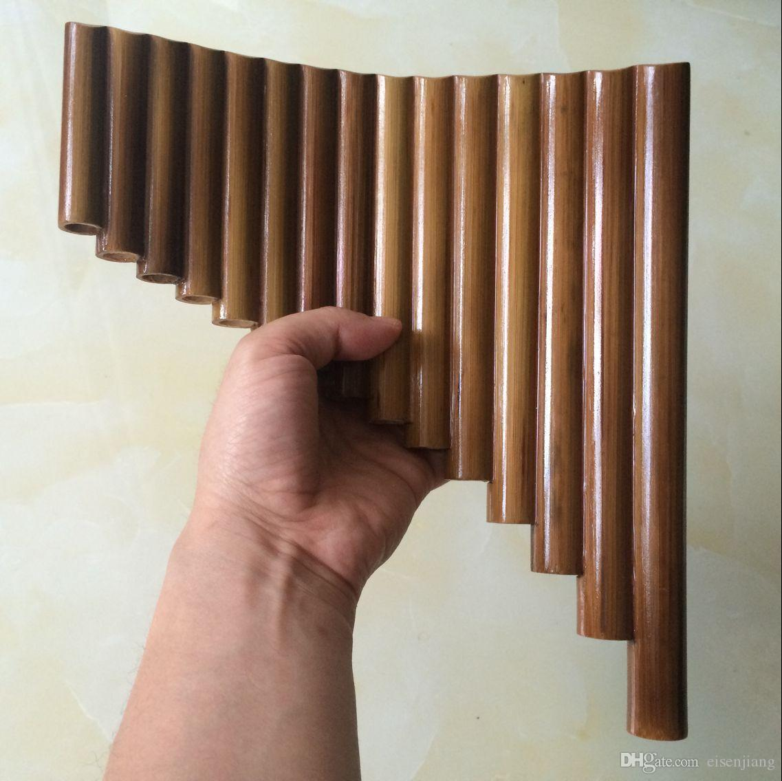 2018 Pan Flute 15 Pipes Natural Bamboo Wind Instrument Panpipe G Key ...
