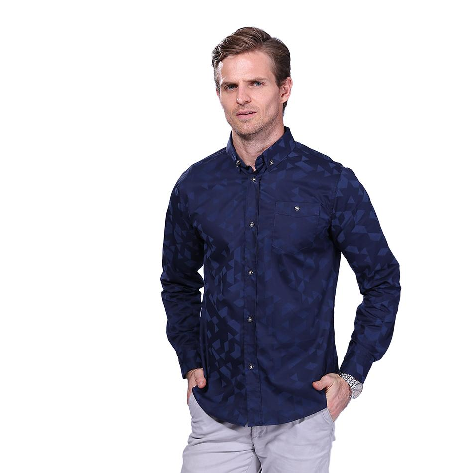 065eb046088 2019 2017 New Arrival Men S Fashion Jacquard Weave Shirt Casual Long Sleeve  Shirt Mens Clothing Trend Slim Fit Mens Office Shirts 5XL YH 065 From  Yeeho