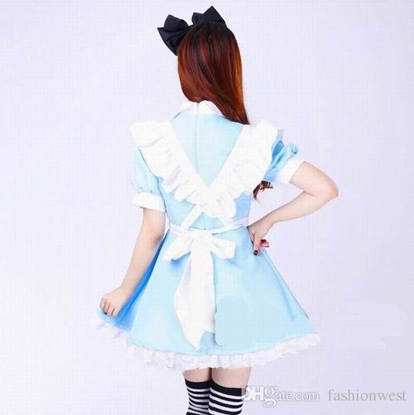 Japonês Best-seller Fantasia Meninas Alice No País Das Maravilhas Fantasia Lolita Empregada Doméstica Maid Traje Vestido Empregada Doméstica Traje Maid Vestido