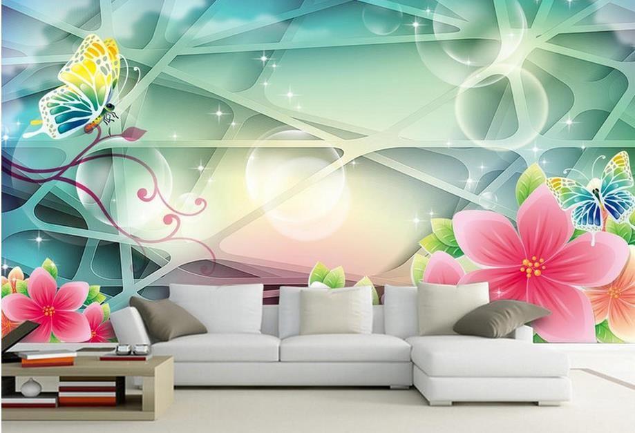 3D 공간 벽지 Xanadu 하쿠바 풍경 3D 벽화 바탕 화면 벽지 나무