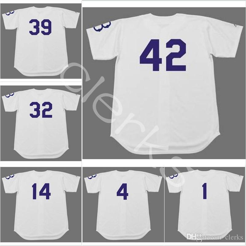 2019 1950s Brooklyn 42 32 Sandy Koufax 14 Gil Hodges 4 Duke Snider 1 Pee  Wee Reese 39 Roy Campanella 53 Don Drysdale Jerseys From Clerks eed7461e9ec